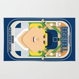 Baseball Blue Pinstripes - Deuce Crackerjack - Hazel version Rug