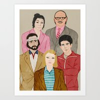 the royal tenenbaums Art Prints featuring Royal Tenenbaums by Adam Vass
