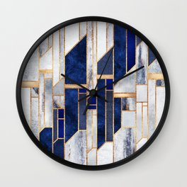 Blue Winter Sky Wall Clock