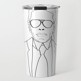 Karl Lagerfeld portrait Travel Mug