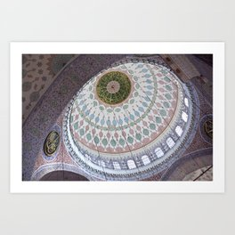 """Travel Photography """"Interior of the New Mosque"""" - Istanbul, Turkey. Color fine art photo print.  Art Print"""