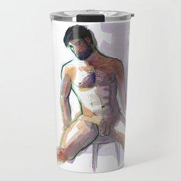 BRADLEY, Nude Male by Frank-Joseph Travel Mug