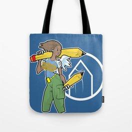 Pencil Warrioress Tote Bag