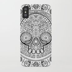 Skull mexican art from the Path to Mictlan iPhone X Slim Case
