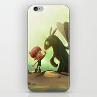 how to train your dragon iPhone & iPod Skins featuring How to Train Your Dragon Fan Art by Daniel Jervis Art