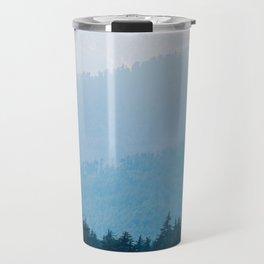 Parallax Mountain Hills Blue Hues Minimal Modern Landscape Photo Travel Mug