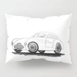 retro car on white background Pillow Sham