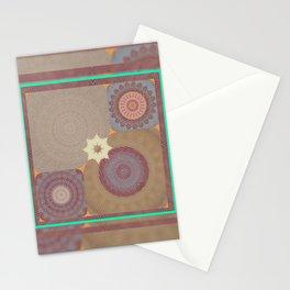 Pallid Minty Base Mandalas Stationery Cards