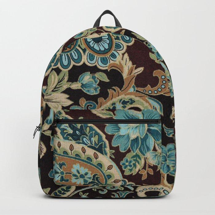 Brown Turquoise Paisley Rucksack