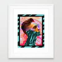 tyler spangler Framed Art Prints featuring DAVID MARINOS x TYLER SPANGLER by David Marinos