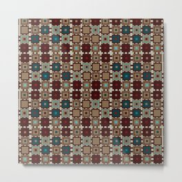Set of seamless geometric square patterns in Egypt style Metal Print