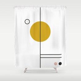 SPACCE 03// GEOMETRIC PASTEL MINIMALIST ILLUSTRATION Shower Curtain