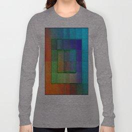 Aperture #2 Fractal Pleat Texture Colorful Design Long Sleeve T-shirt