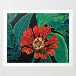Flower Orange Art Print