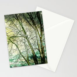 melancholic tree Stationery Cards