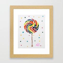 """Lollipop"" Framed Art Print"