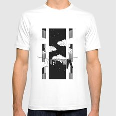 Thinking about you SMALL White Mens Fitted Tee