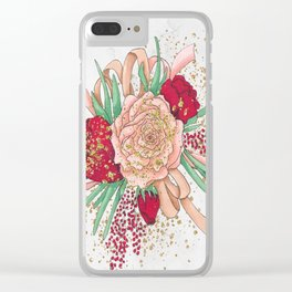 Rose Flower Clear iPhone Case