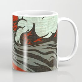 Lava Meets The Sea Coffee Mug