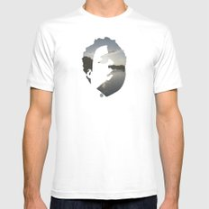 Face & The Ocean White Mens Fitted Tee MEDIUM