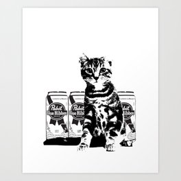 Bodega Kitty Art Print