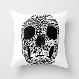 The Carved Skull Throw Pillow