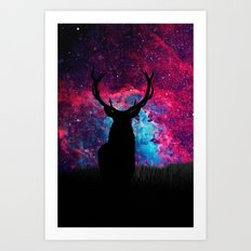 Deer Galaxy Art Print