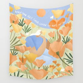 Learn to rest, not quit. Wall Tapestry