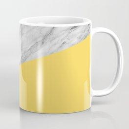 Marble and Primrose Yellow Color Coffee Mug