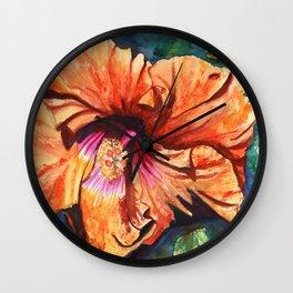 Tropical Hibiscus 9 Wall Clock