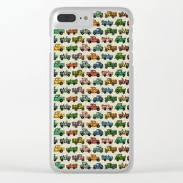Cars and Trucks Clear iPhone Case
