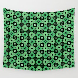 Tiled green Wall Tapestry