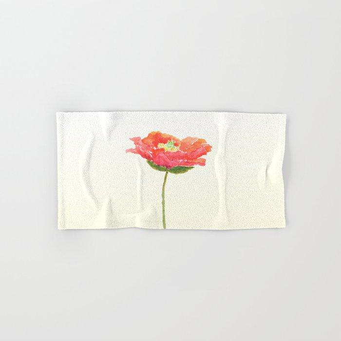 red poppy Hand & Bath Towel