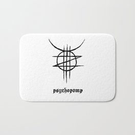 PSYCHOPOMP - White Bath Mat