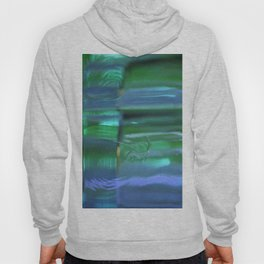 Glass Abstract in Blue and Green Hoody
