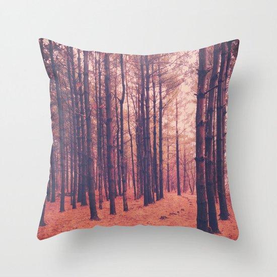 Vintage Pines Throw Pillow