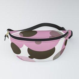 Pink circular pattern Fanny Pack