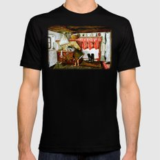Searching After Memories SMALL Black Mens Fitted Tee