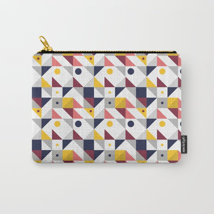 Geometric shapes retro pattern Carry-All Pouch