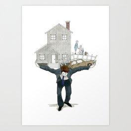 Burden of Man Art Print