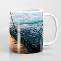 fishing Mugs featuring FISHING by aztosaha