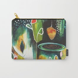 """Deep Growth"" Original Painting by Flora Bowley Carry-All Pouch"