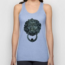 Vintage bronze lion door knocker Unisex Tank Top