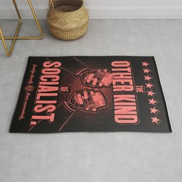 "Vintage ""The Other Kind of Socialist"" Alcoholic Lithograph Advertisement in red Rug"
