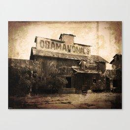 Obamanomics Canvas Print