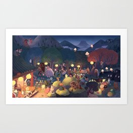 Yokai Party Art Print