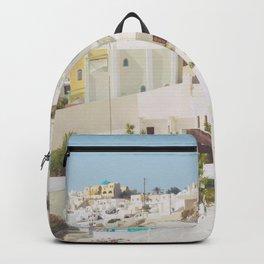 Santorini Island, Greece Backpack