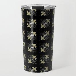Fleur de lis ...gold, black, white Travel Mug