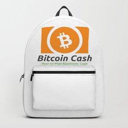 Bitcoin Cash Logo - Peer-to-Peer Electronic Cash Backpack