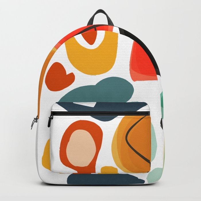 Abstract Joyful Shapes Pattern Decoration Backpack